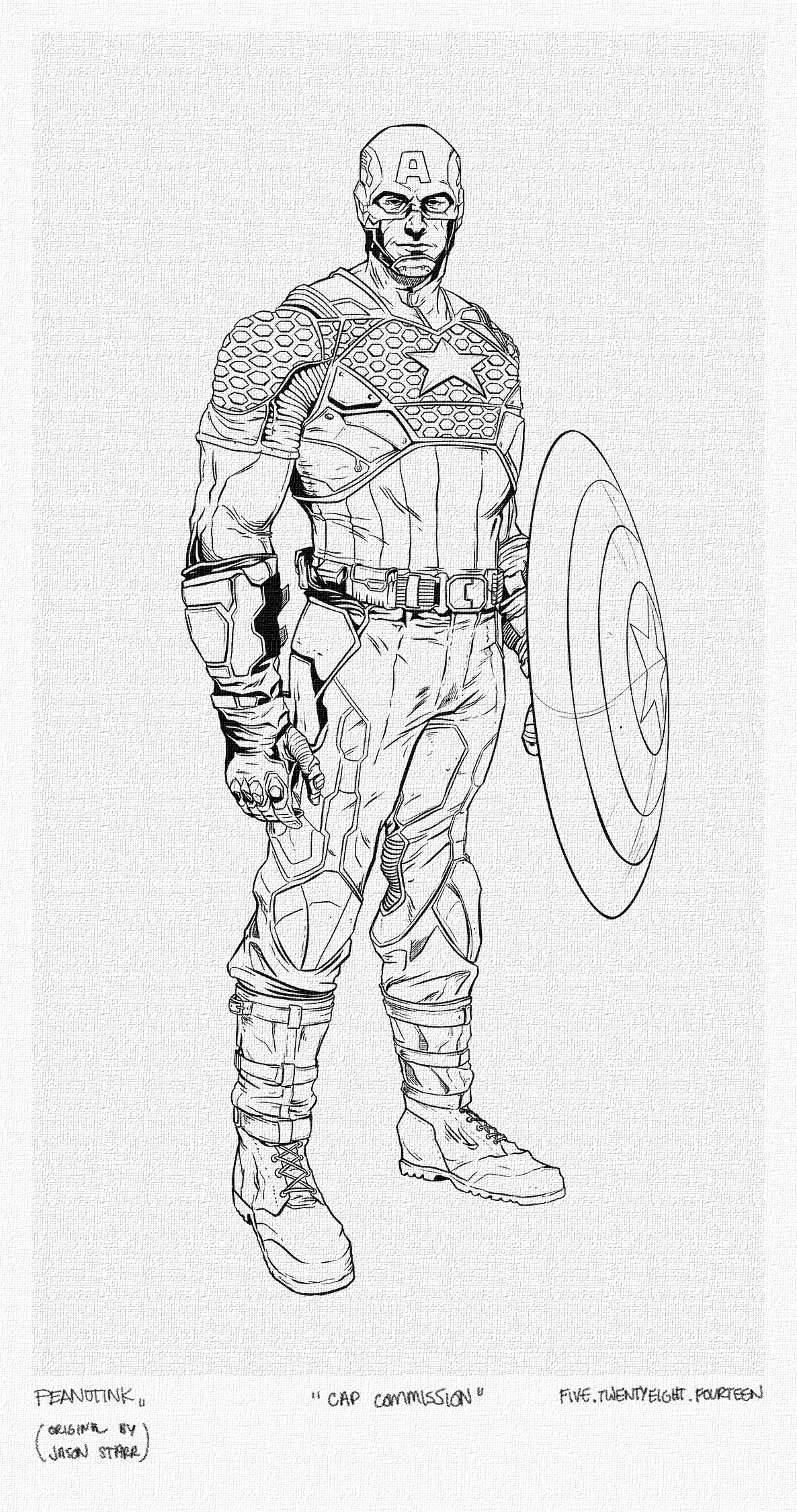 """...weekly ink #20 - """"cap commission"""" - original by Jason Starr..."""
