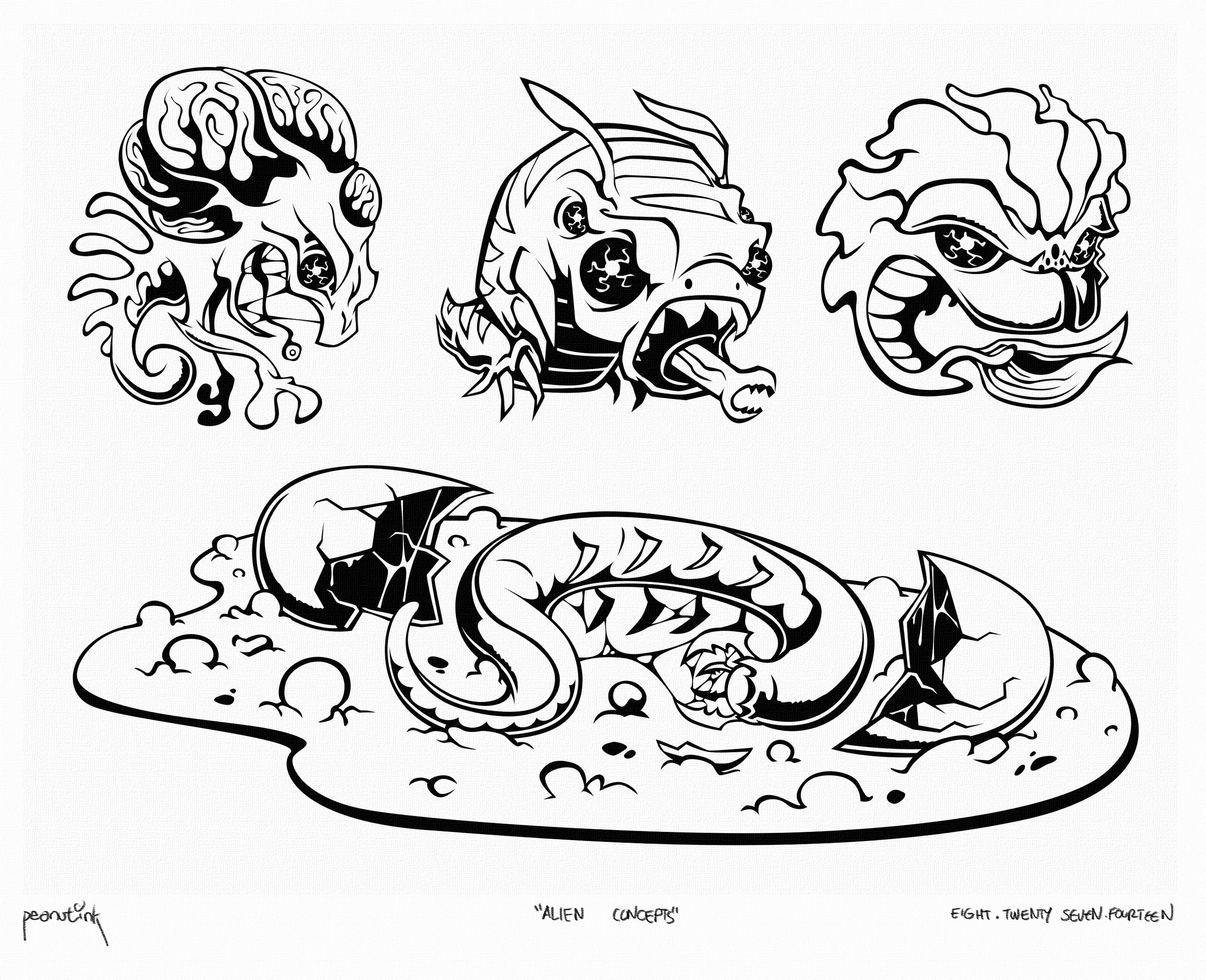 "...weekly ink #32 - ""alien concepts""..."