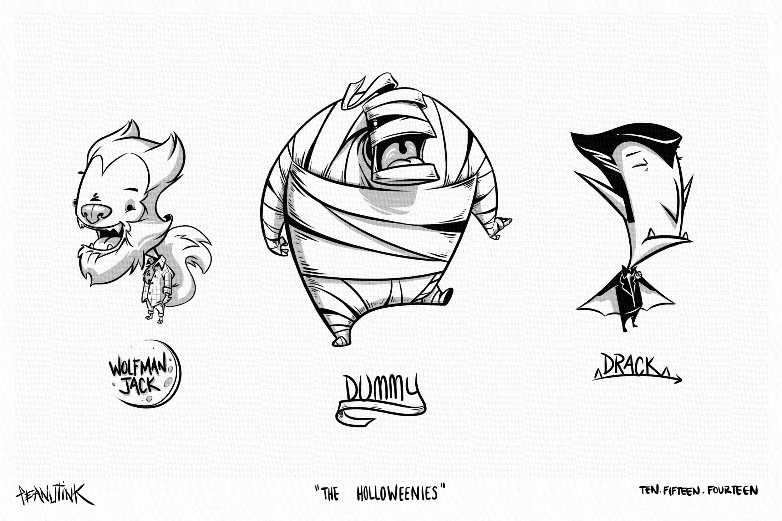 """...weekly ink #40 - """"the holloweenies""""..."""