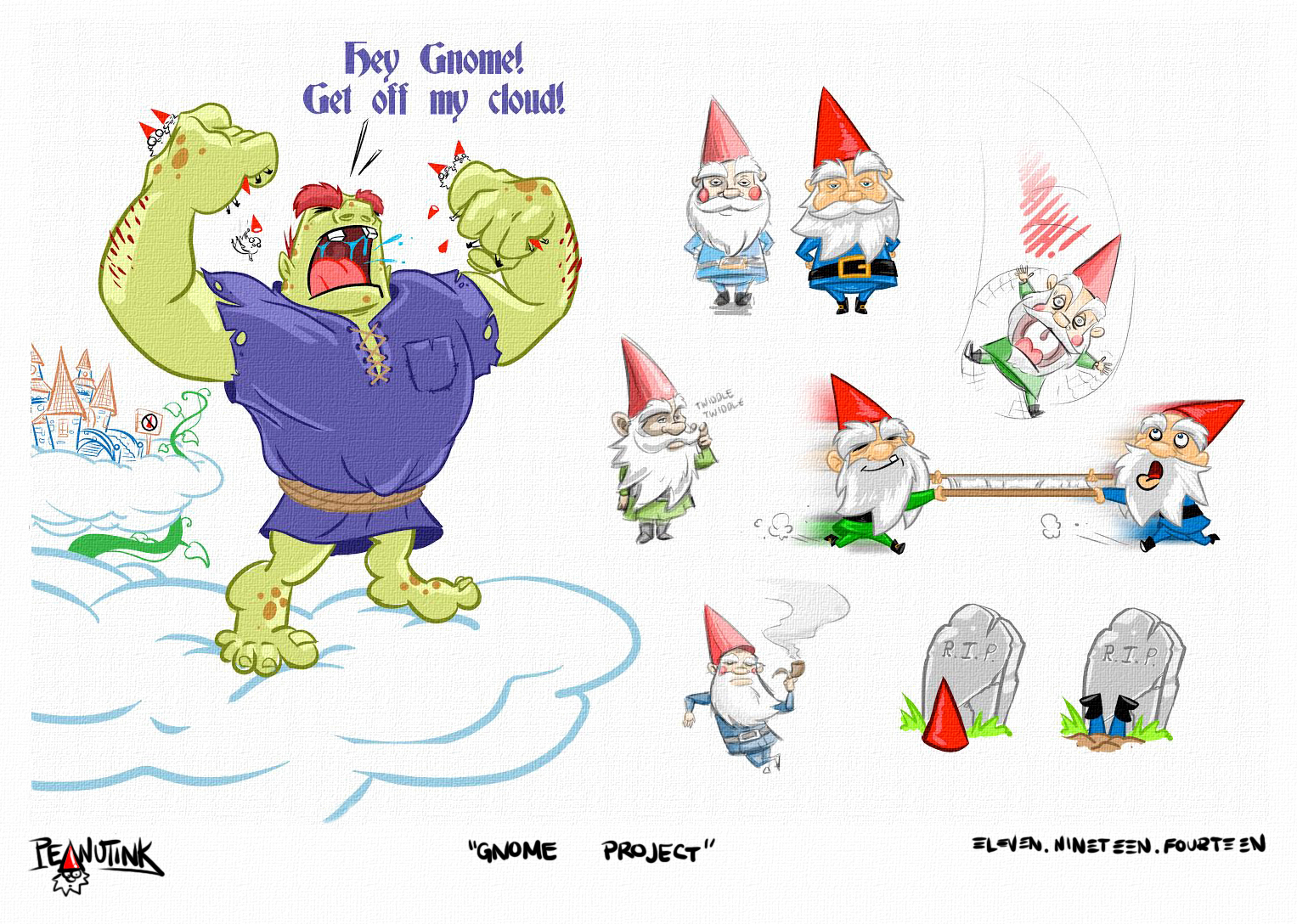 """...weekly ink #44 - """"gnome project""""..."""