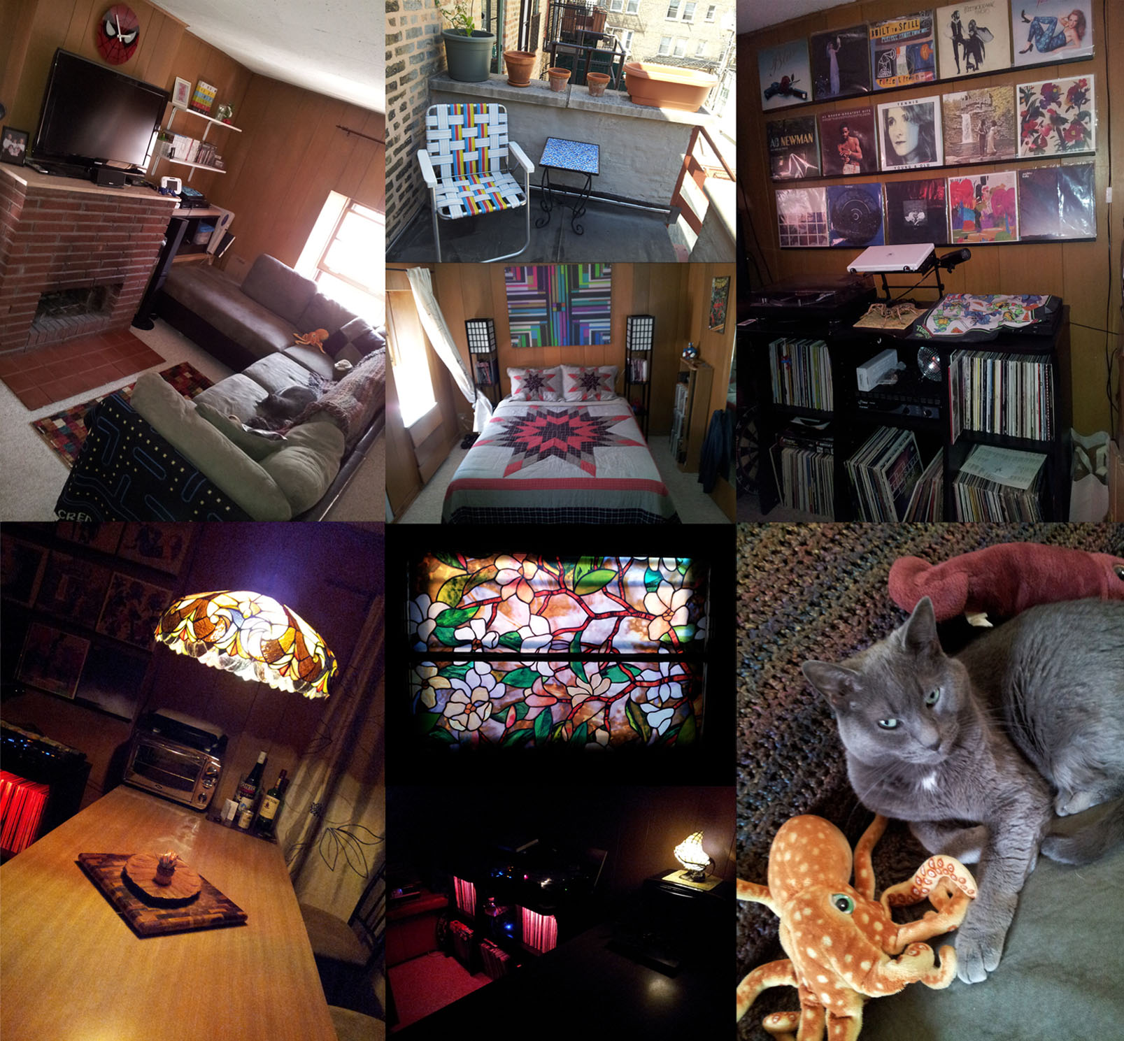 "...this is a photo compilation of a ""cabin"" in a northern hood of chicago for which i reside with my soul panther, Sir Dignan the III..."