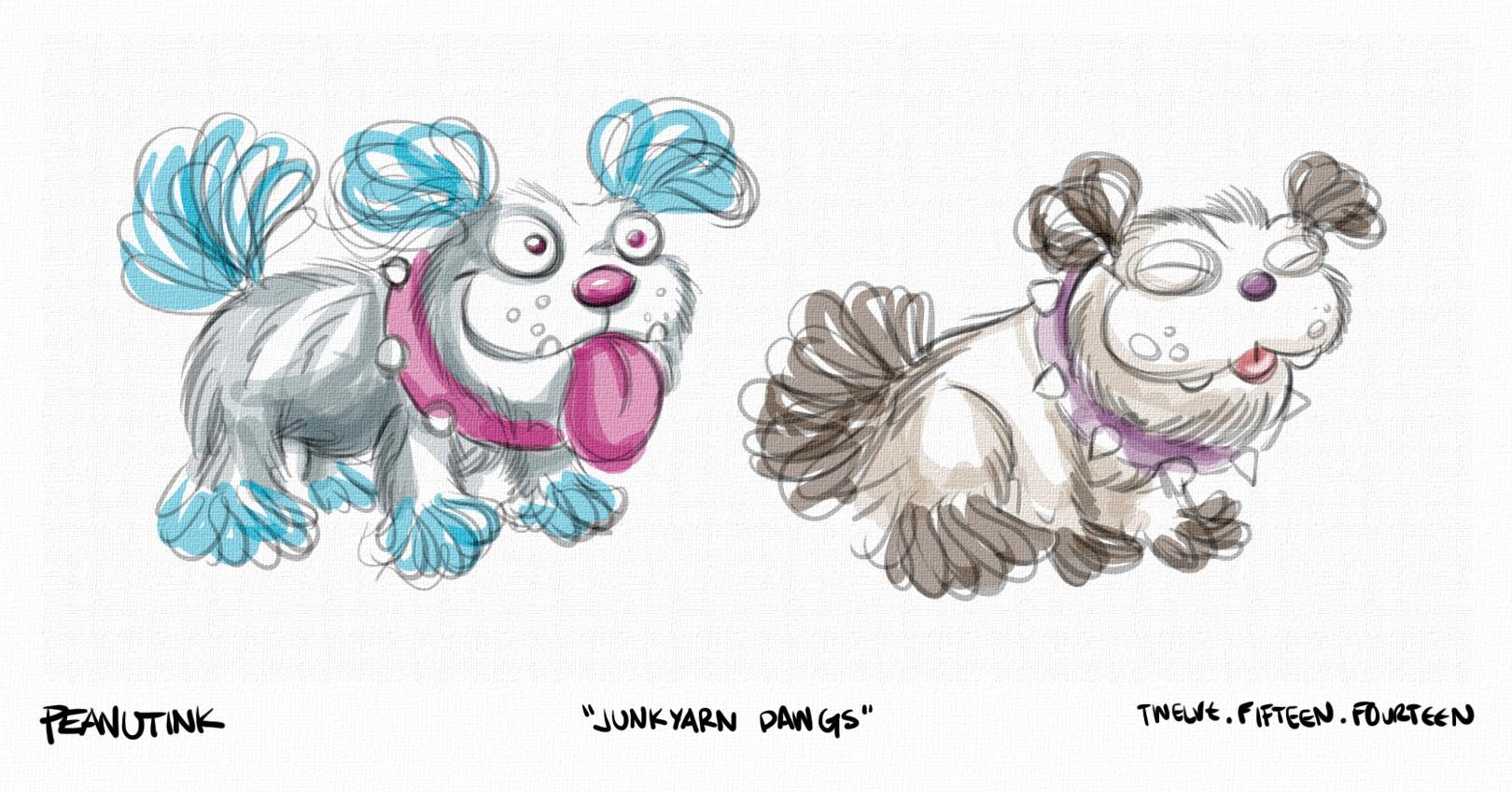 "...weekly ink #48 - ""junk yarn dawgs""..."