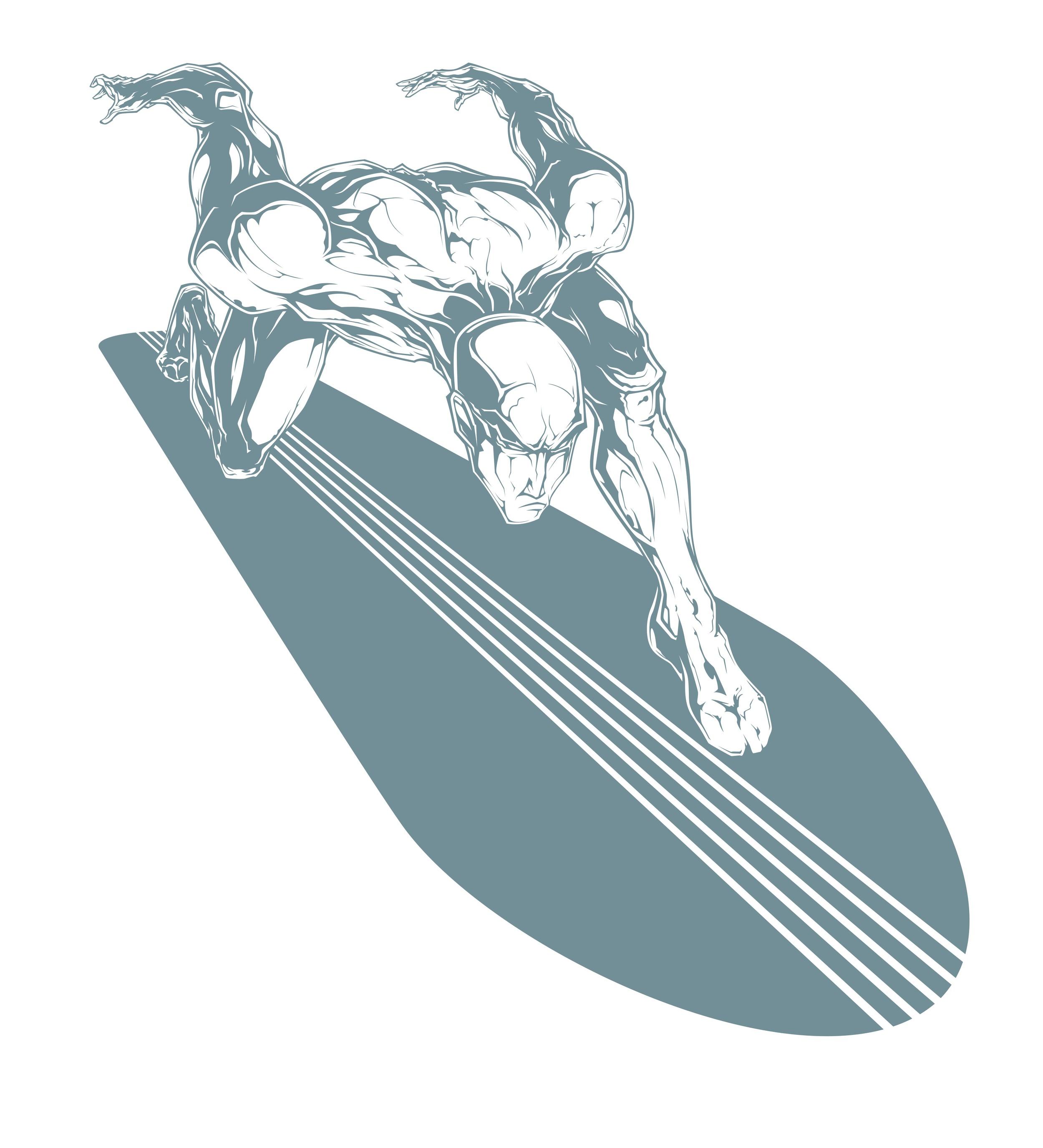 ...silver surfer digital ink...