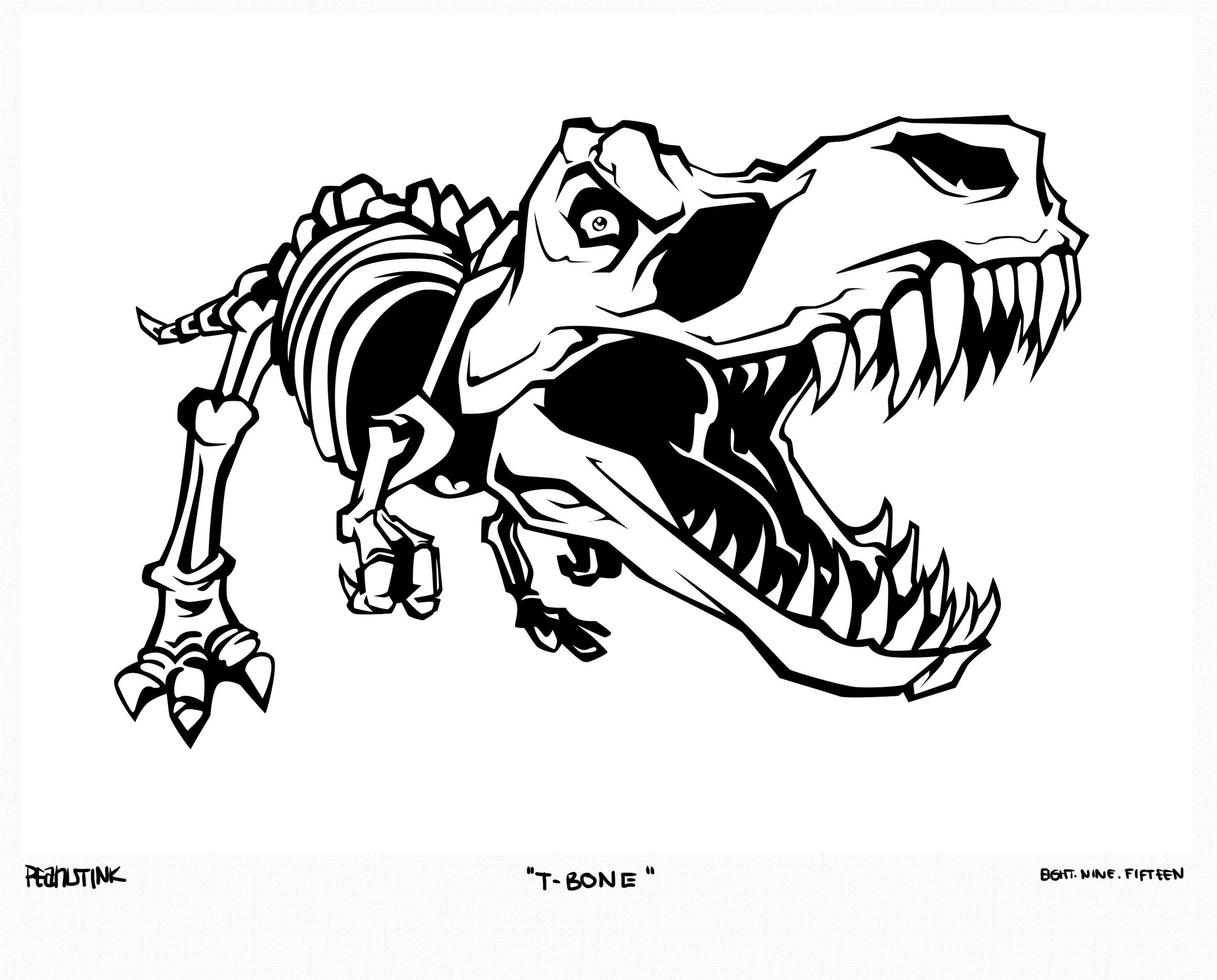 """...weekly ink #83 - """"t-bone""""..."""