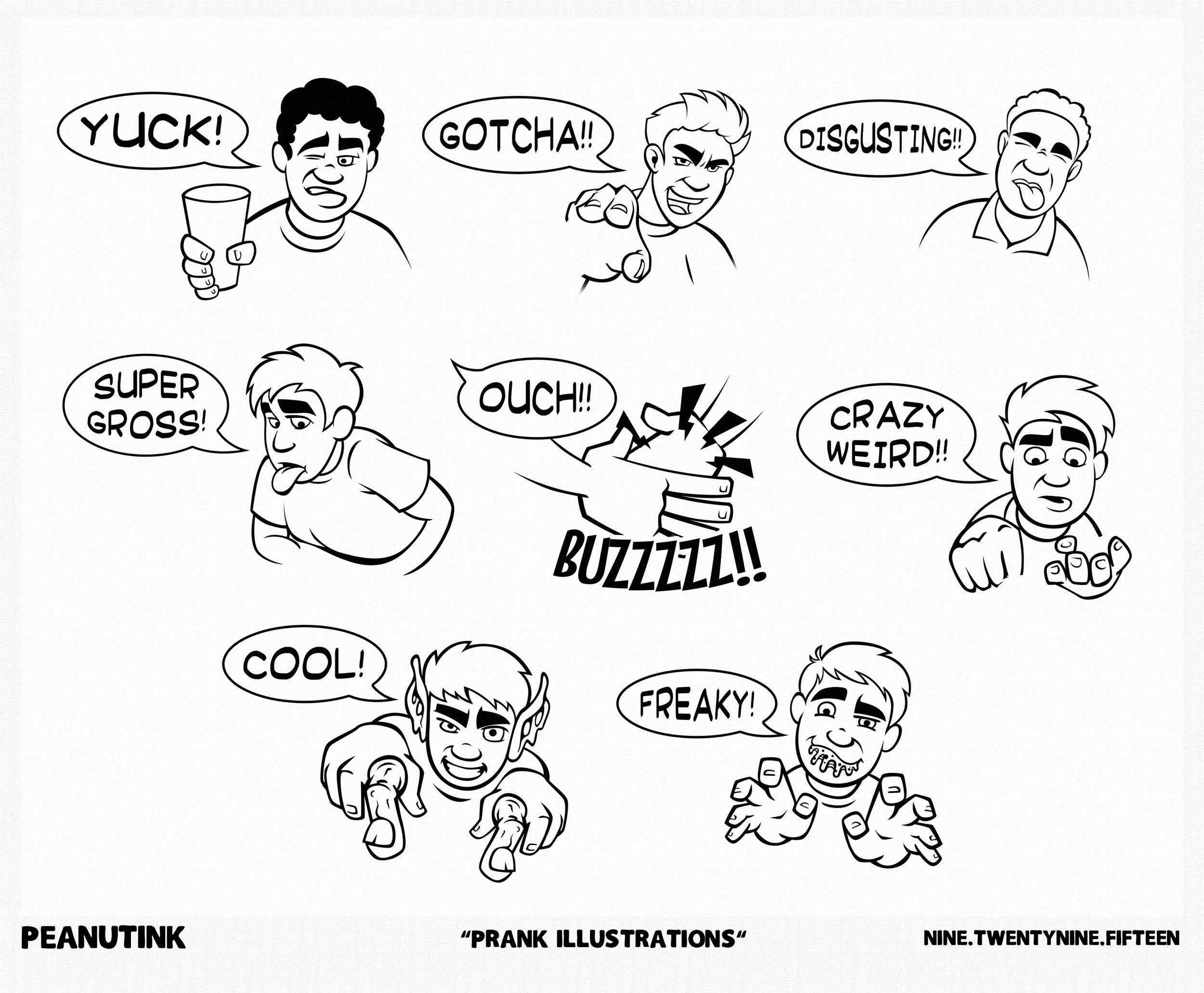 "...weekly ink #91 - ""prank illustrations""..."