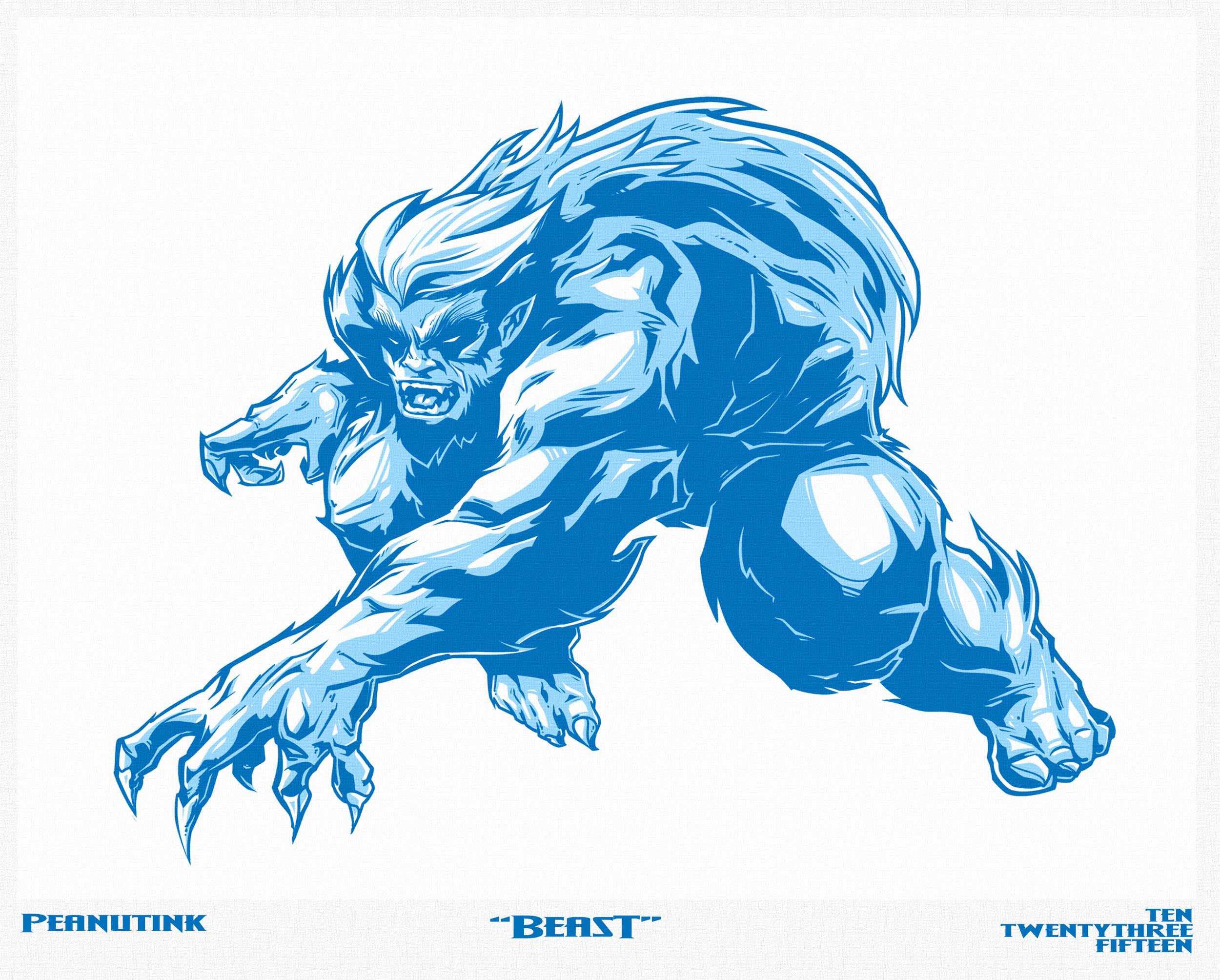 """...weekly ink #96 - """"beast""""..."""
