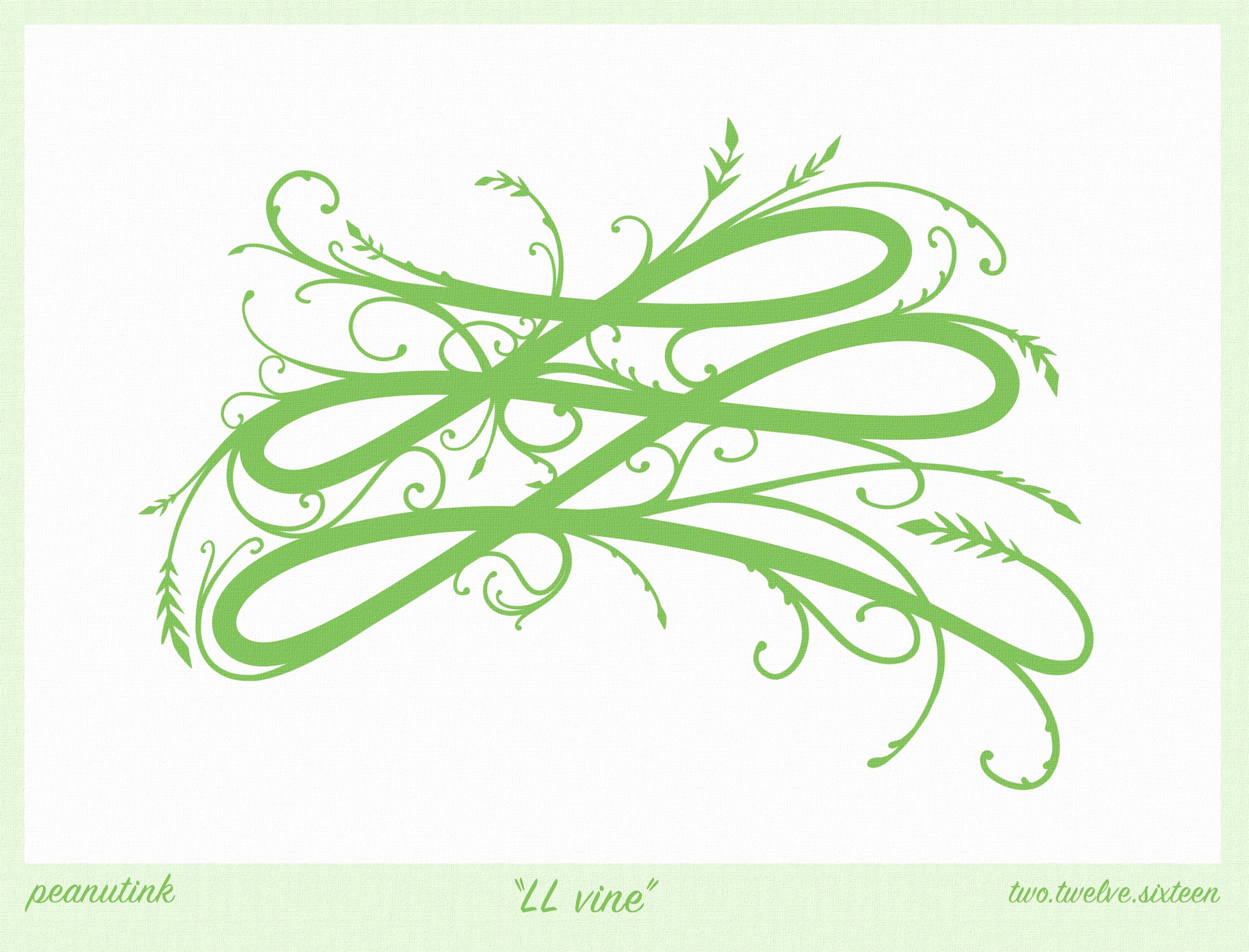 """...weekly ink #108 - """"LL vine""""..."""