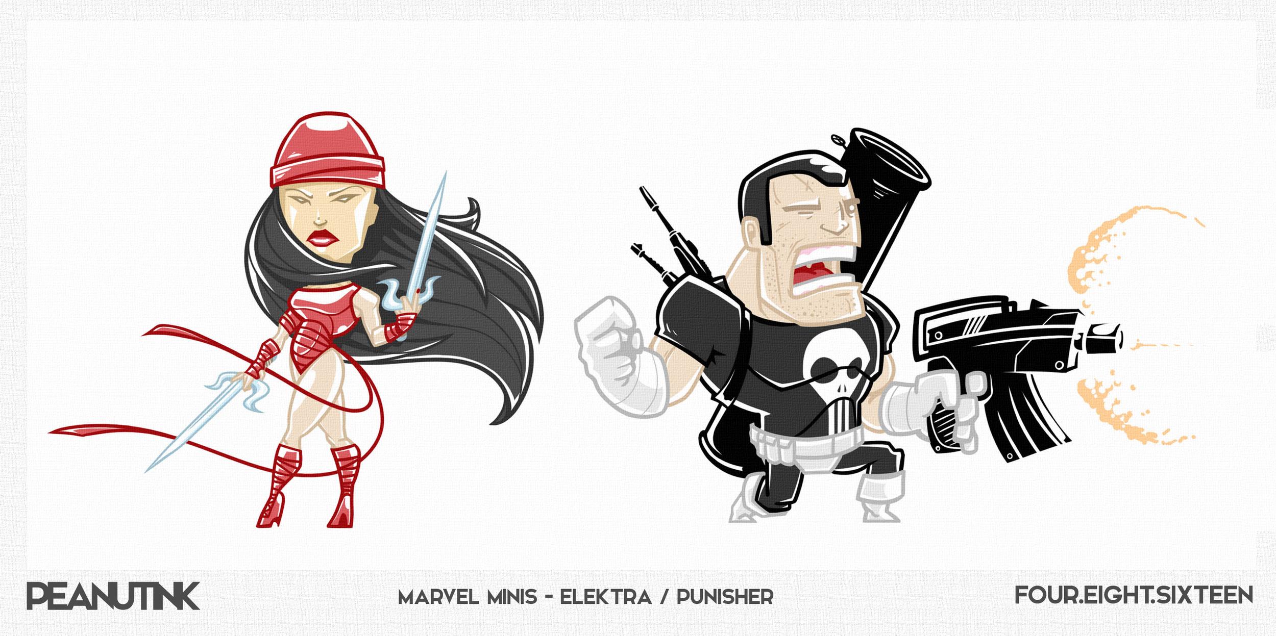 """...weekly ink #116 - """"marvel minis - Elektra / Punisher""""..."""
