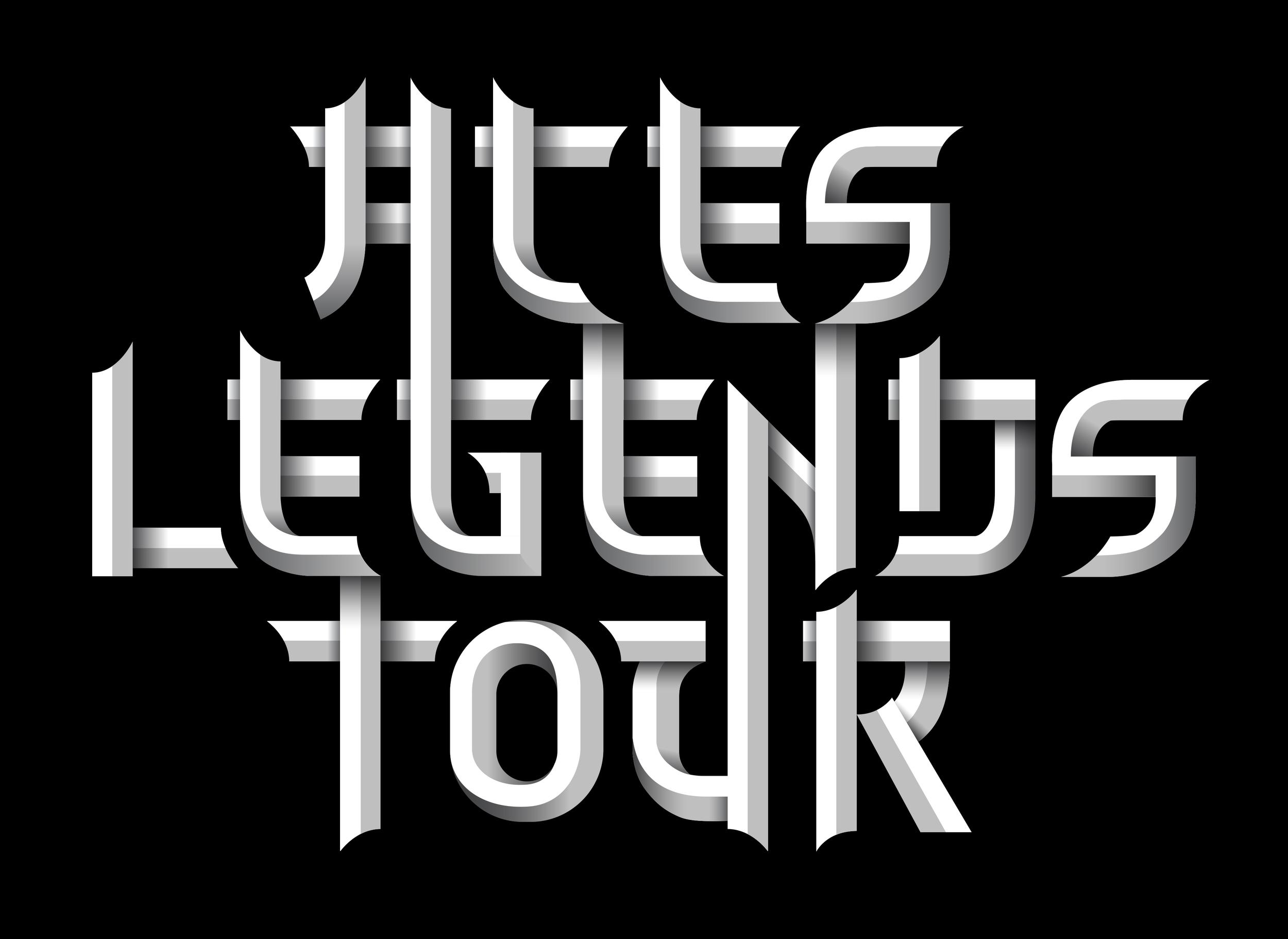 ...Aces Legends Tour font...