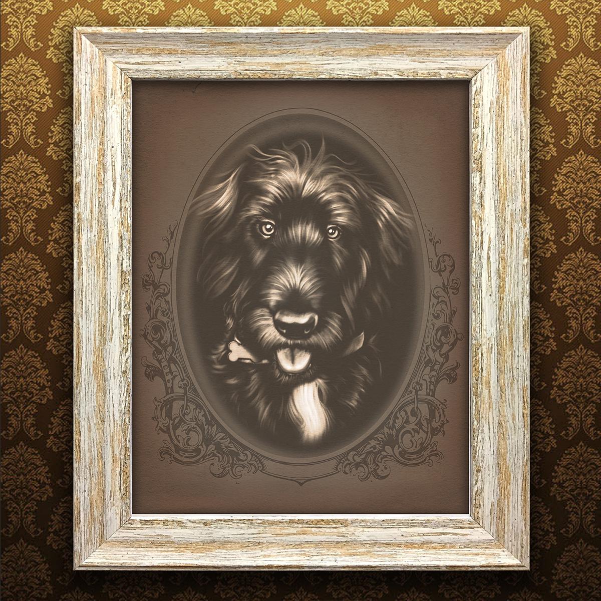 vintage pet portrait - Cosmo