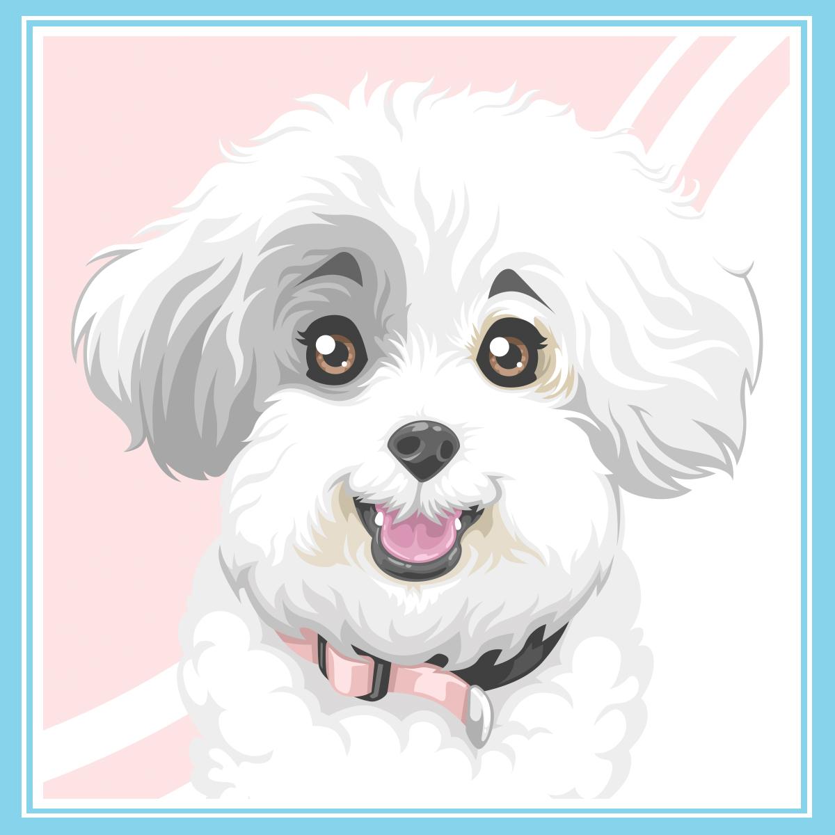 Stylized pet portrait - Lena