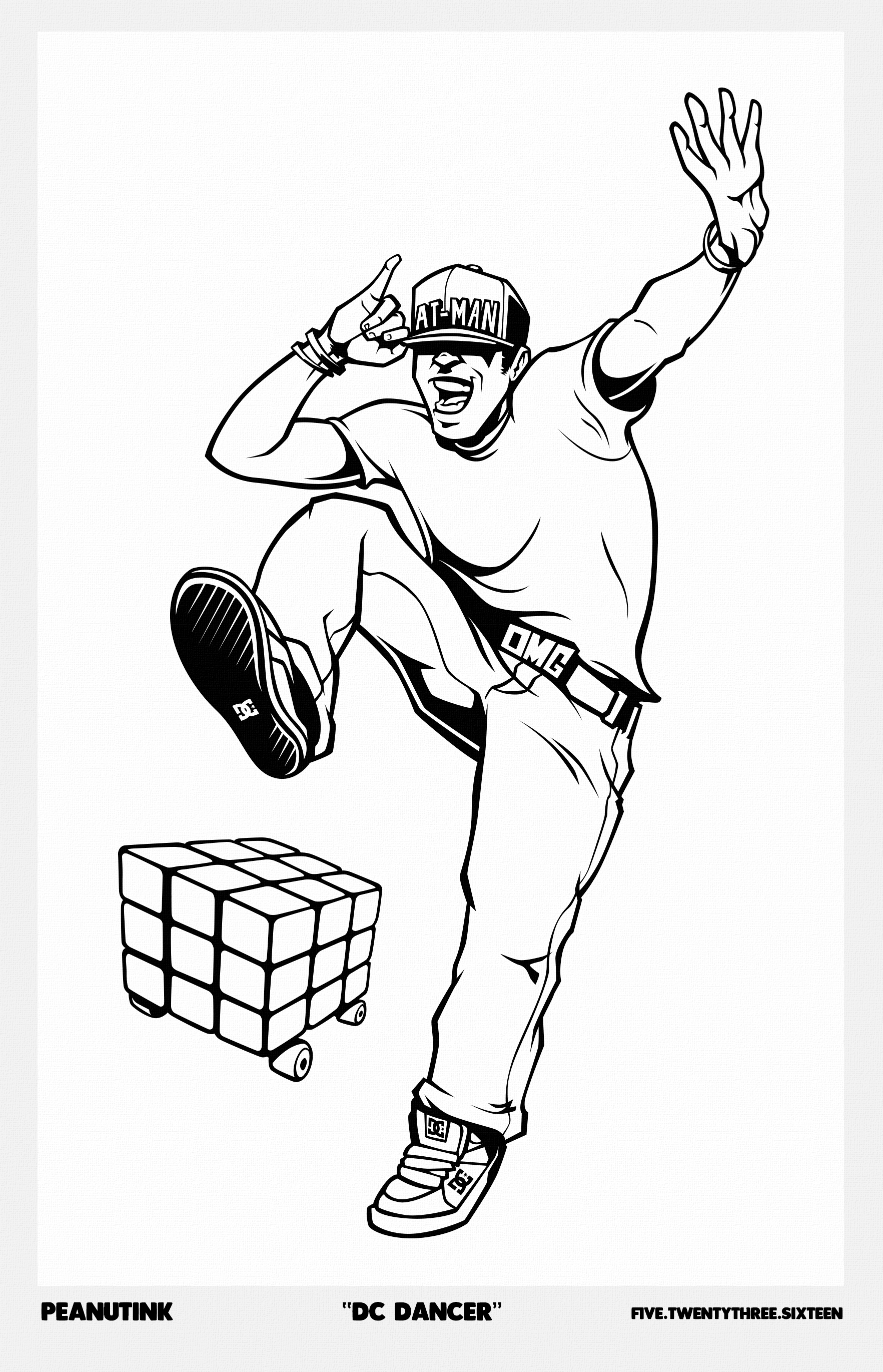 "..weekly ink #121 - ""DC Dancer"".."