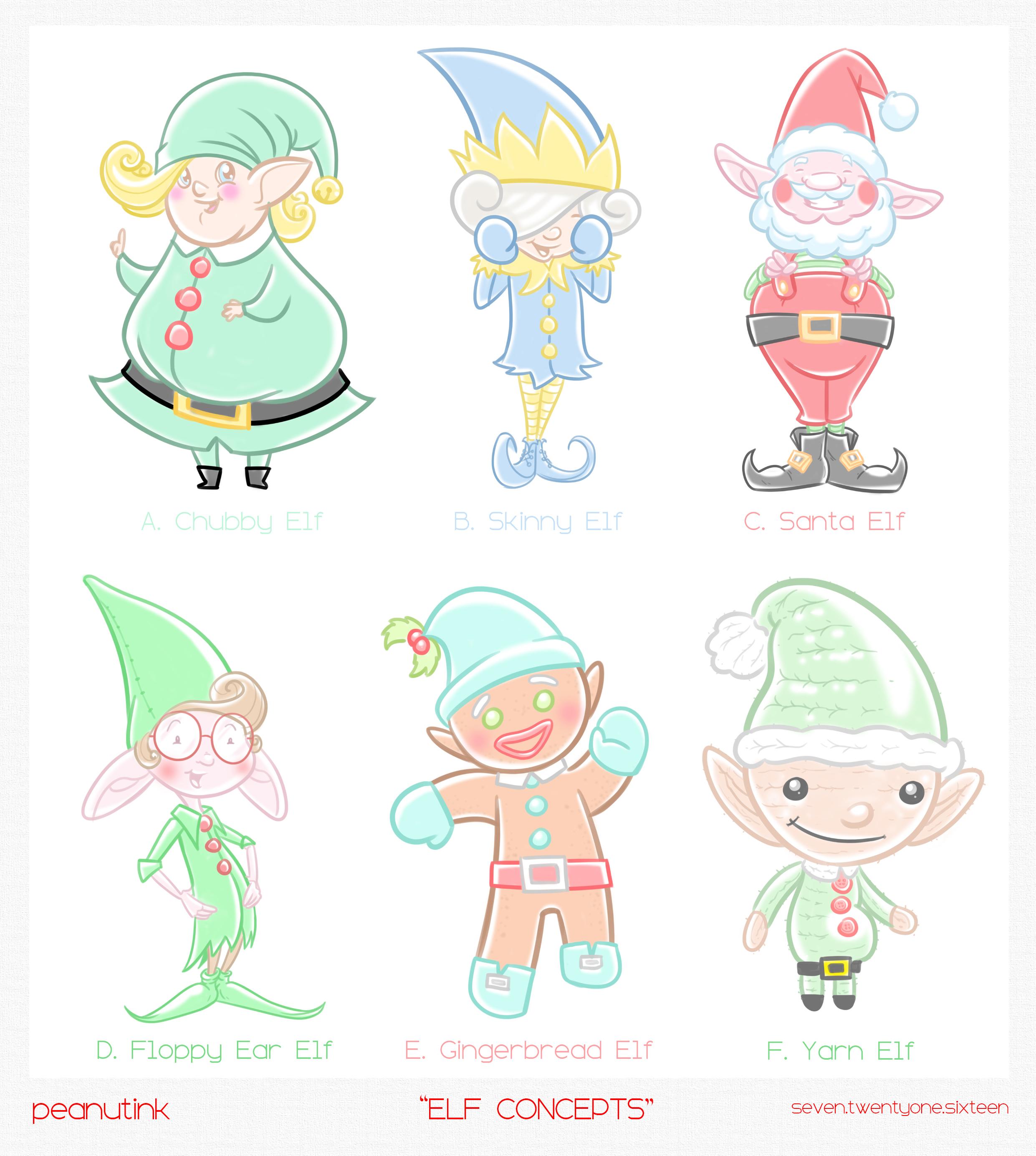 "...weekly ink #135 - ""Elf concepts""..."