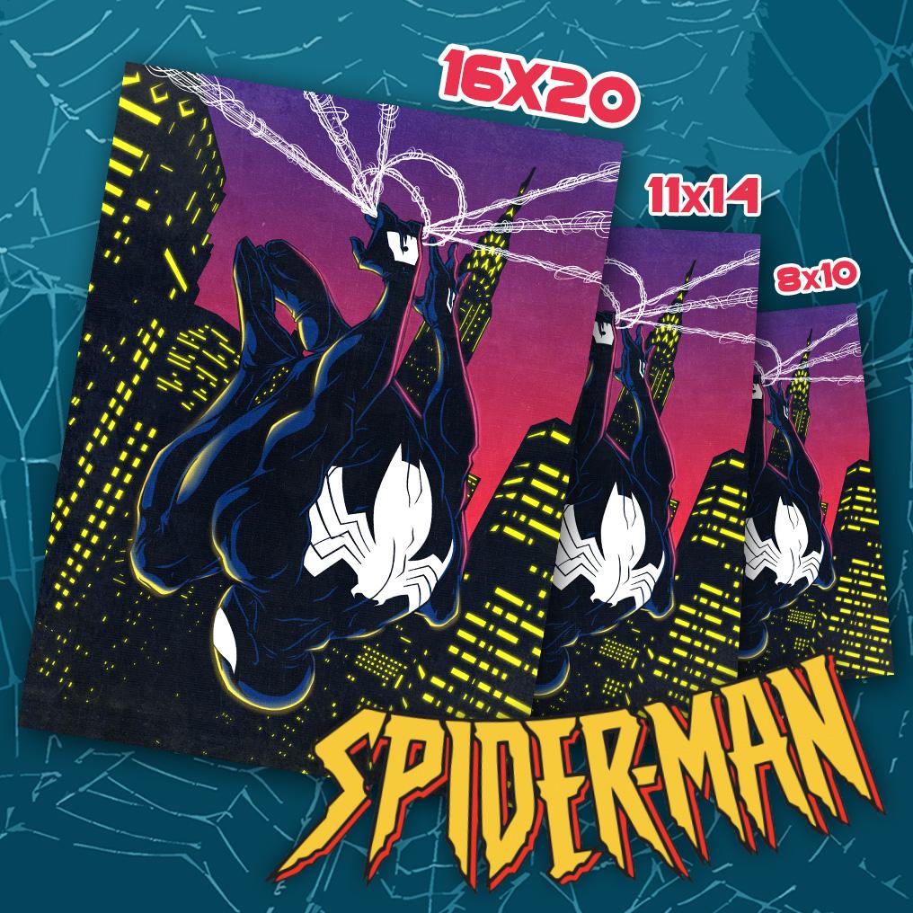 90s inspired spider-man art print