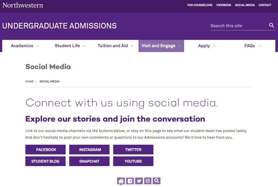 Social Media  Undergraduate Admissions   Northwestern University.png