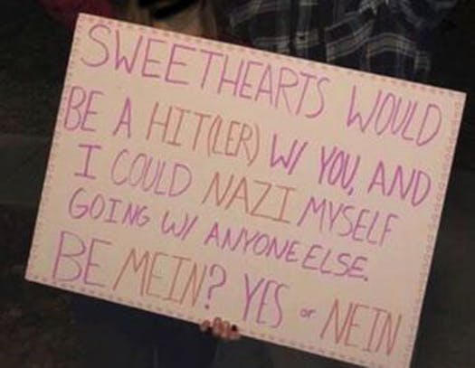 Students showed their true colors on social media - Two teens proudly post Nazi-themed Valentine's Day invite on social media