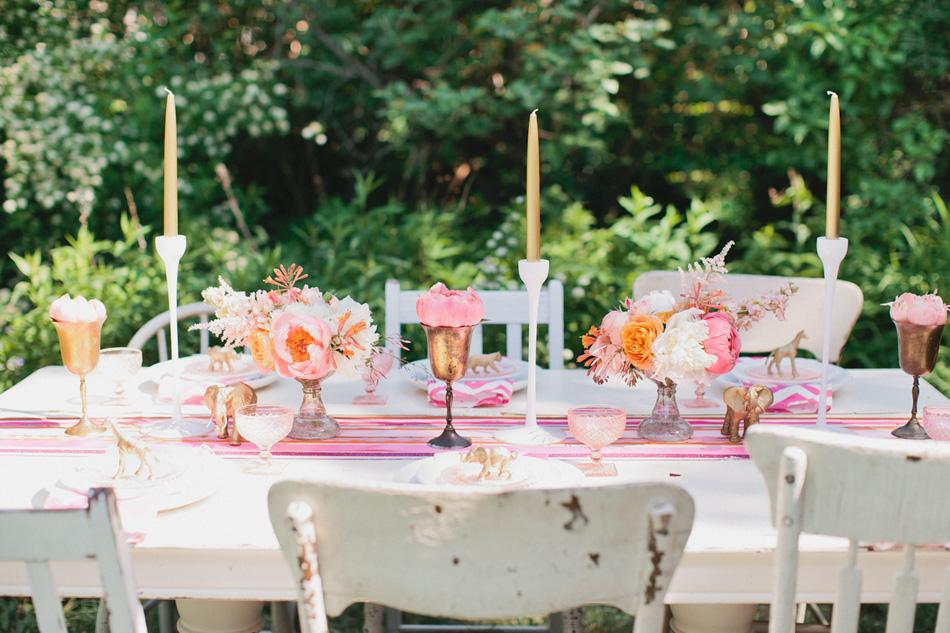 pink gold wedding studio fleurette