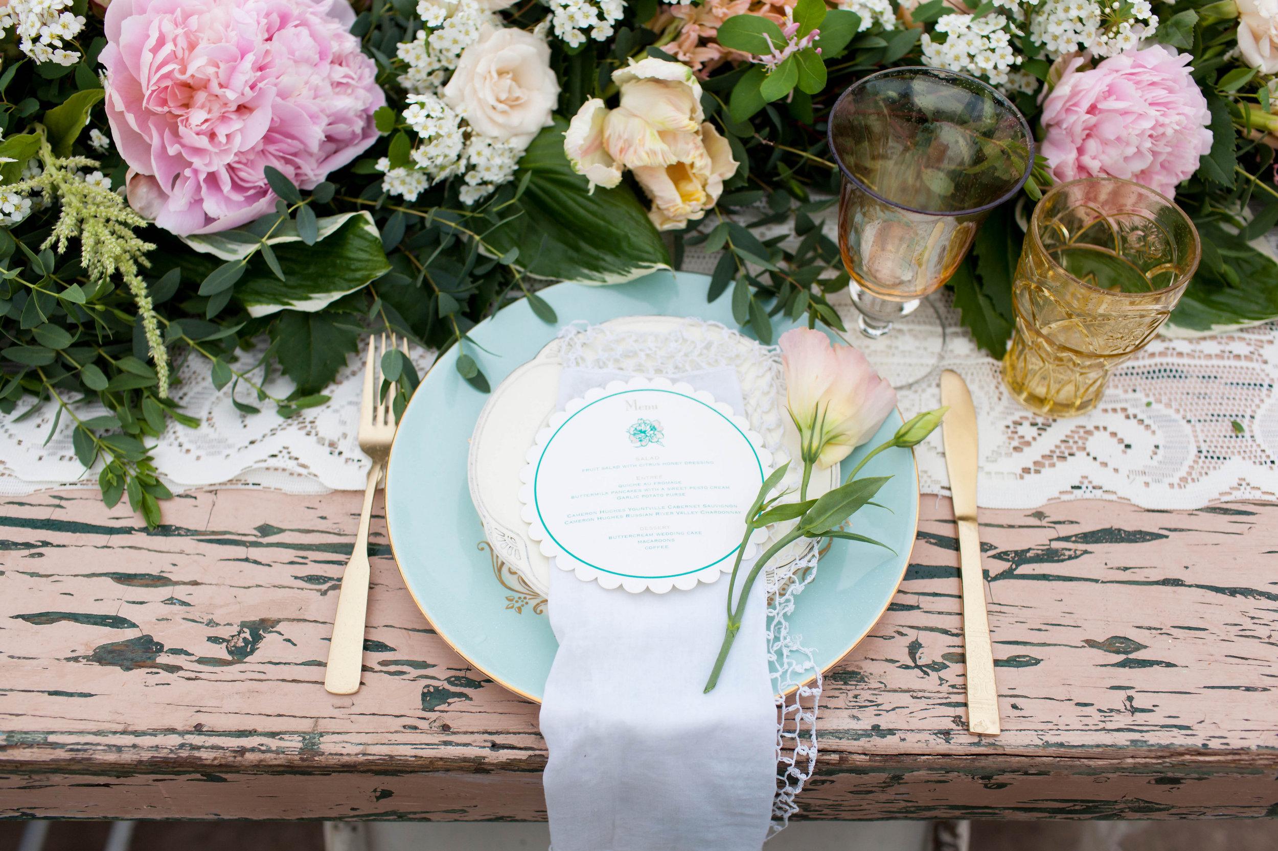 Floral table runner studio fleurette