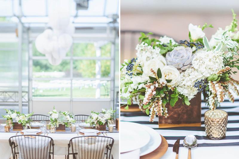 white and green organic wedding, succulent centerpieces, studio fleurette.jpg