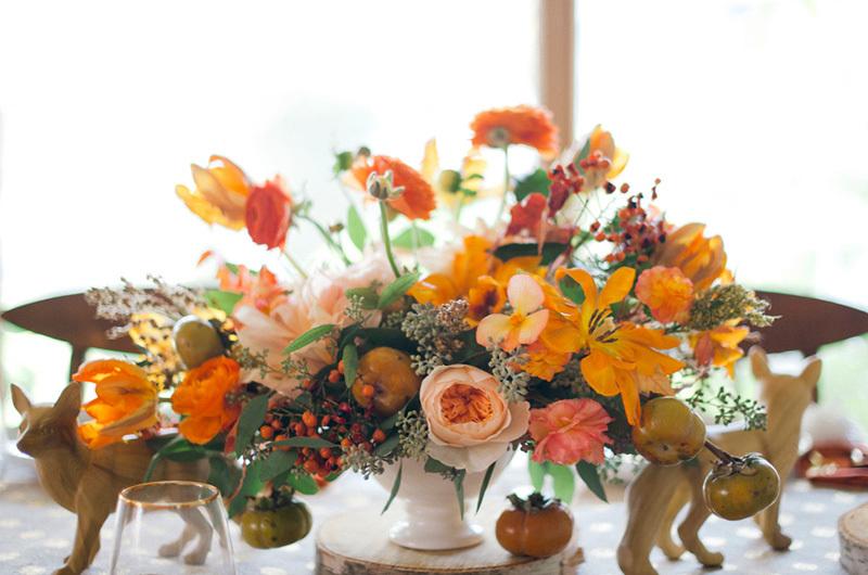 orange wedding flowers, studio fleurette, fall wedding.jpg