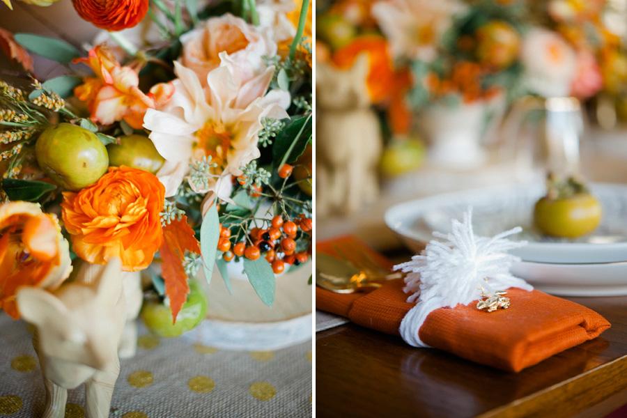 Peach and Orange Flowers, Studio Fleurette