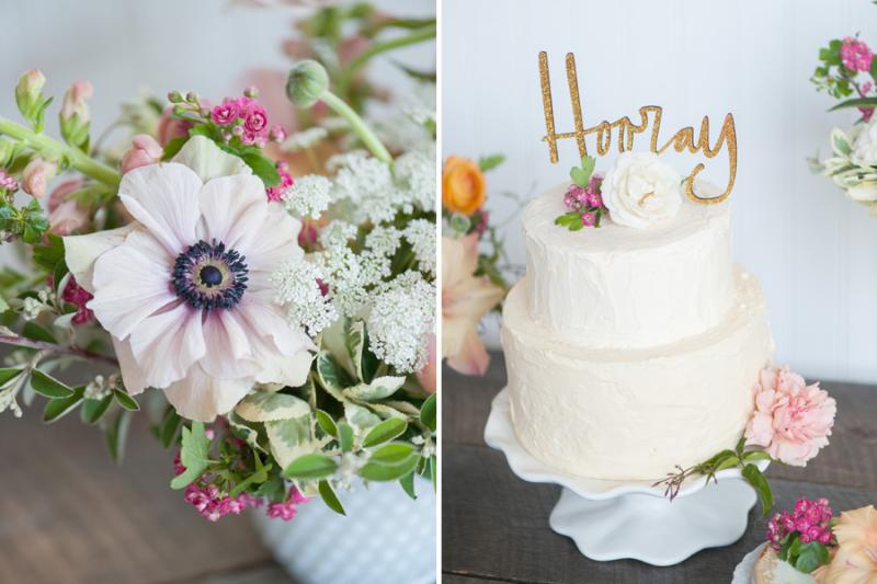 milkglass wedding decorations, studio fleurette, white and pink vintage flowers