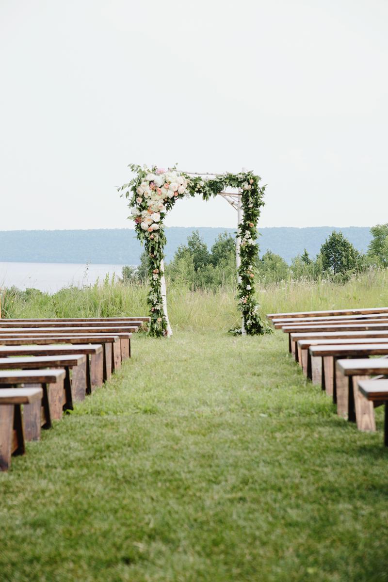 wedding ceremony flowers, wedding arch flowers, studio fleurette, birch arbor.jpg