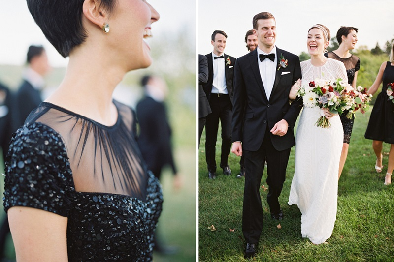 black sequin bridesmaid dress, studio fleurette, marsala blush wedding flowers, stillwater mn wedding.jpg