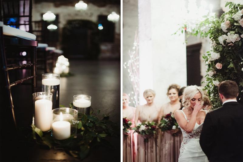 urban wedding, aria minnesota, studio fleurette, wedding aisle decor, candles wedding ceremony.jpg