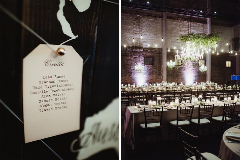urban travel wedding decorations, studio fleurette, hanging greenery installation, aria minneapolis.jpg