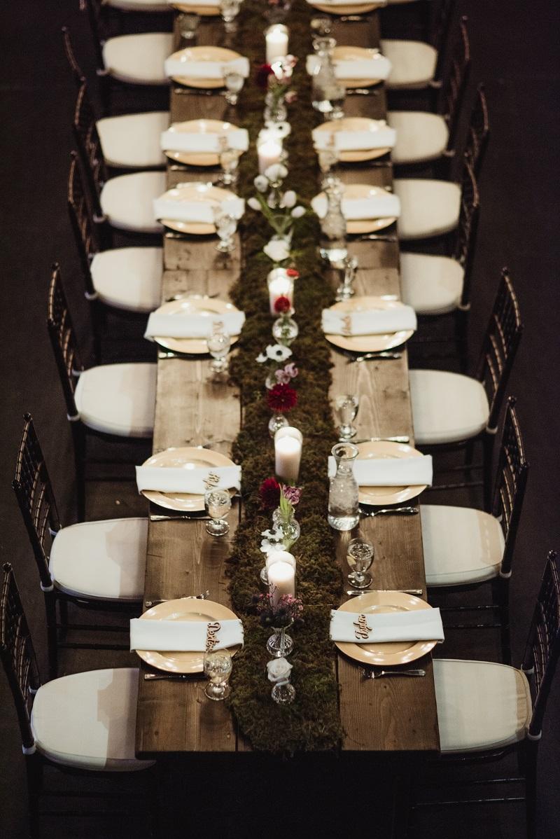 moss table runner, moss bud vase table runner, aria minneapolis, studio fleurette, bud vase long table centerpiece.jpg