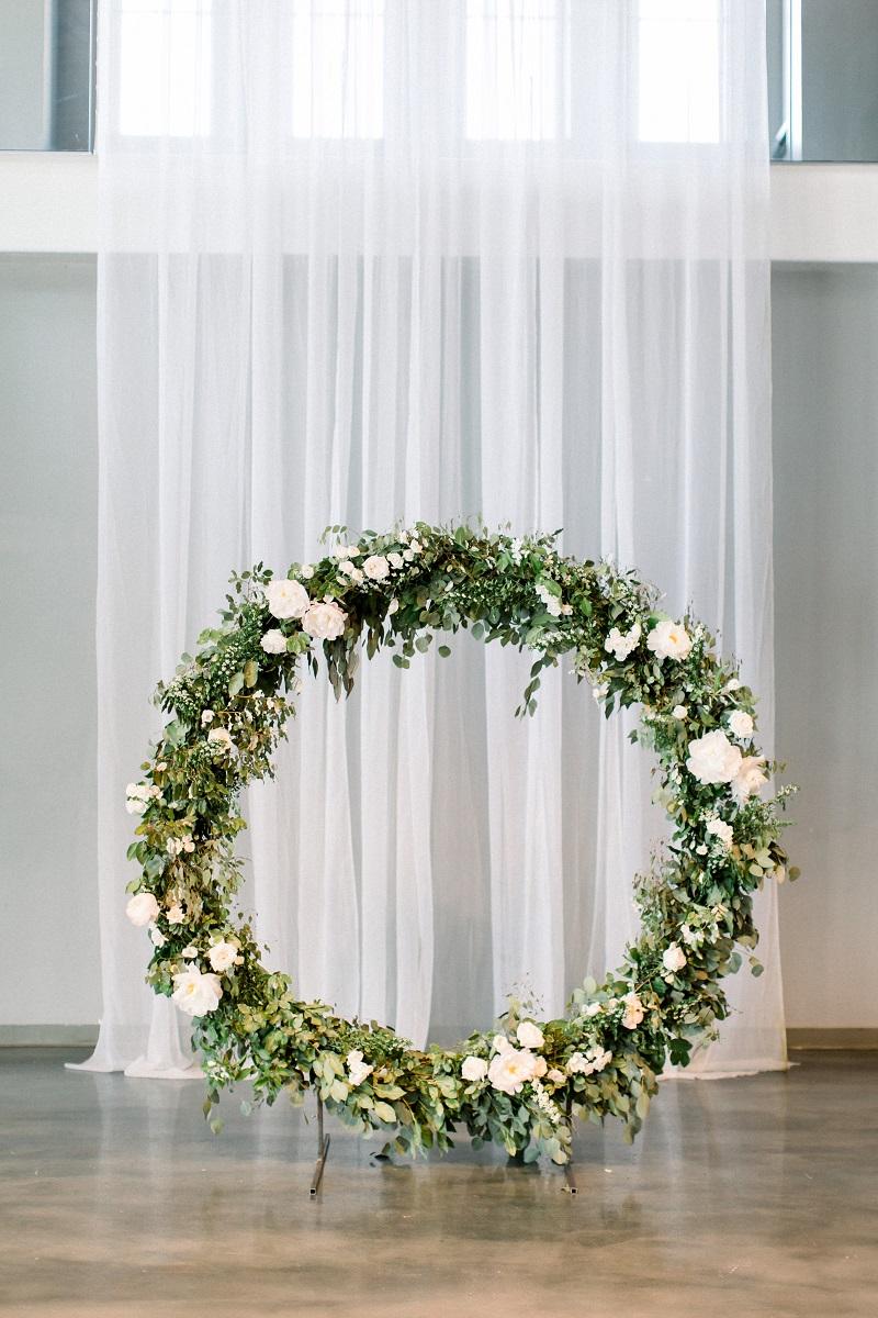 floral wreath backdrop, wedding ceremony wreath, muse event center, studio fleurette, wedding ceremony backdrop, minneapolis mn florist.jpg