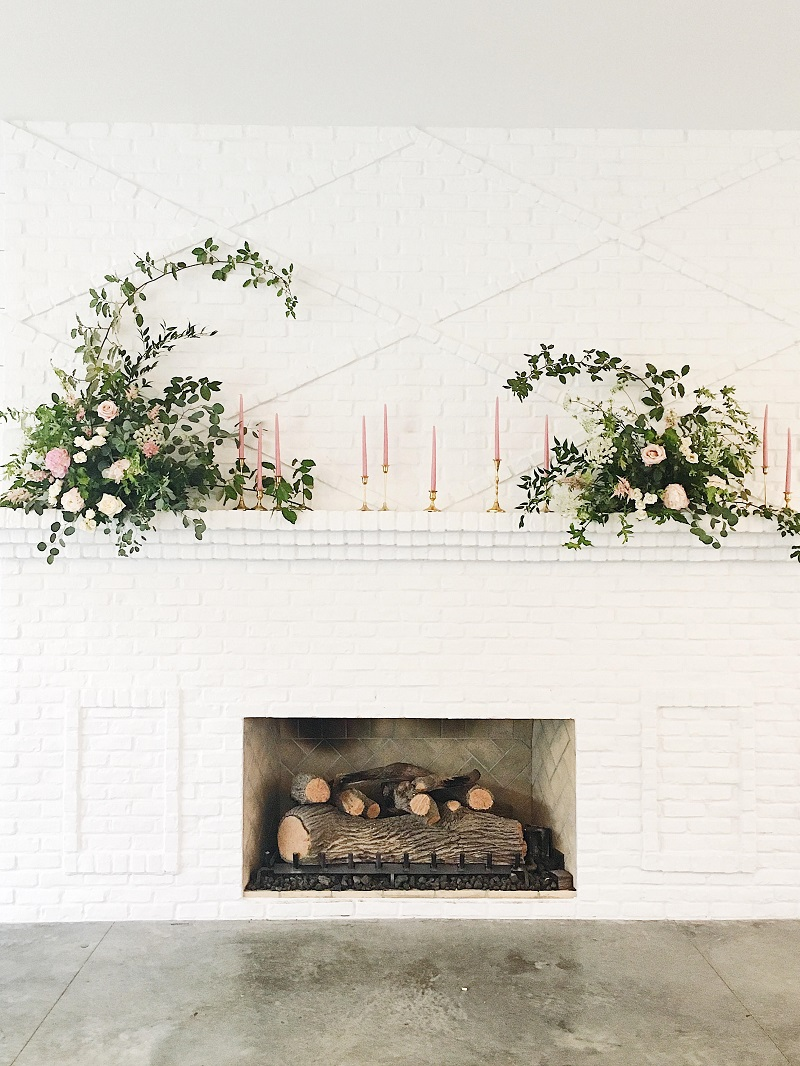 the hutton house fireplace wedding, studio fleurette, fireplace floral design, mantle flowers wedding, hutton house mantle.jpg