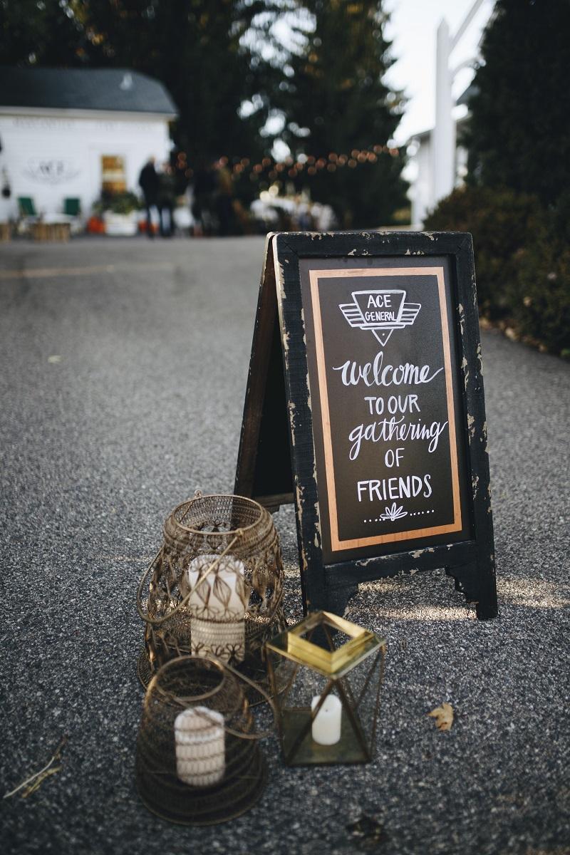 wood welcome sign studio fleurette, bohemian geometric lanterns, ace general, minneapolis mn florist