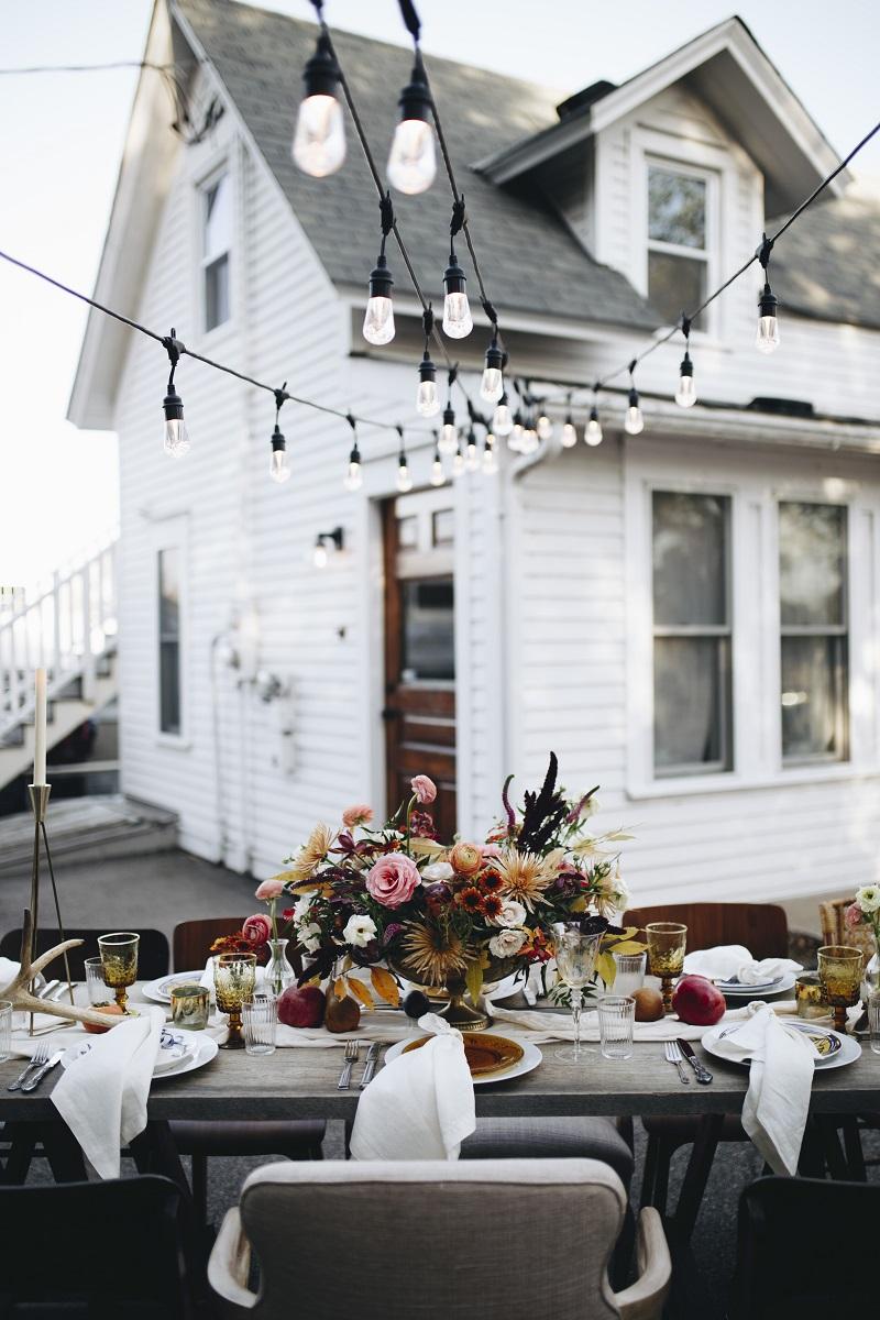 ace general studio fleurette, twin cities wedding florists, mn fall outdoor dinner