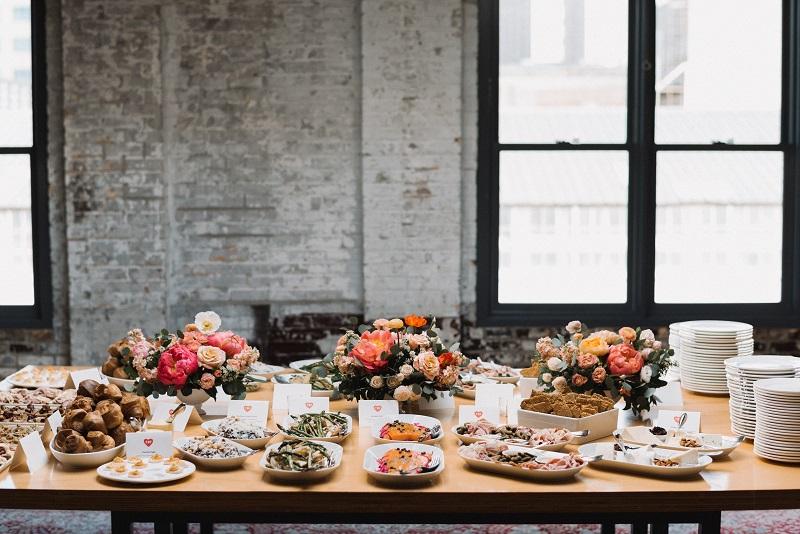 weddings in the north loop minneapolis, food styling, studio fleurette, food and flower styling, buffet styling.jpg
