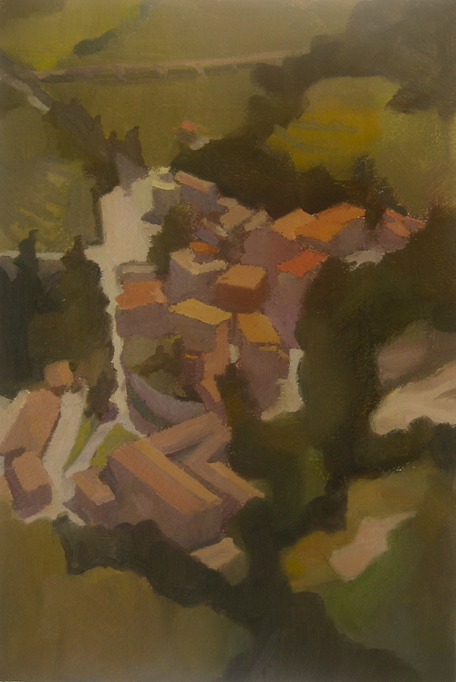 Via Della Cartiera, 2013, oil on paper