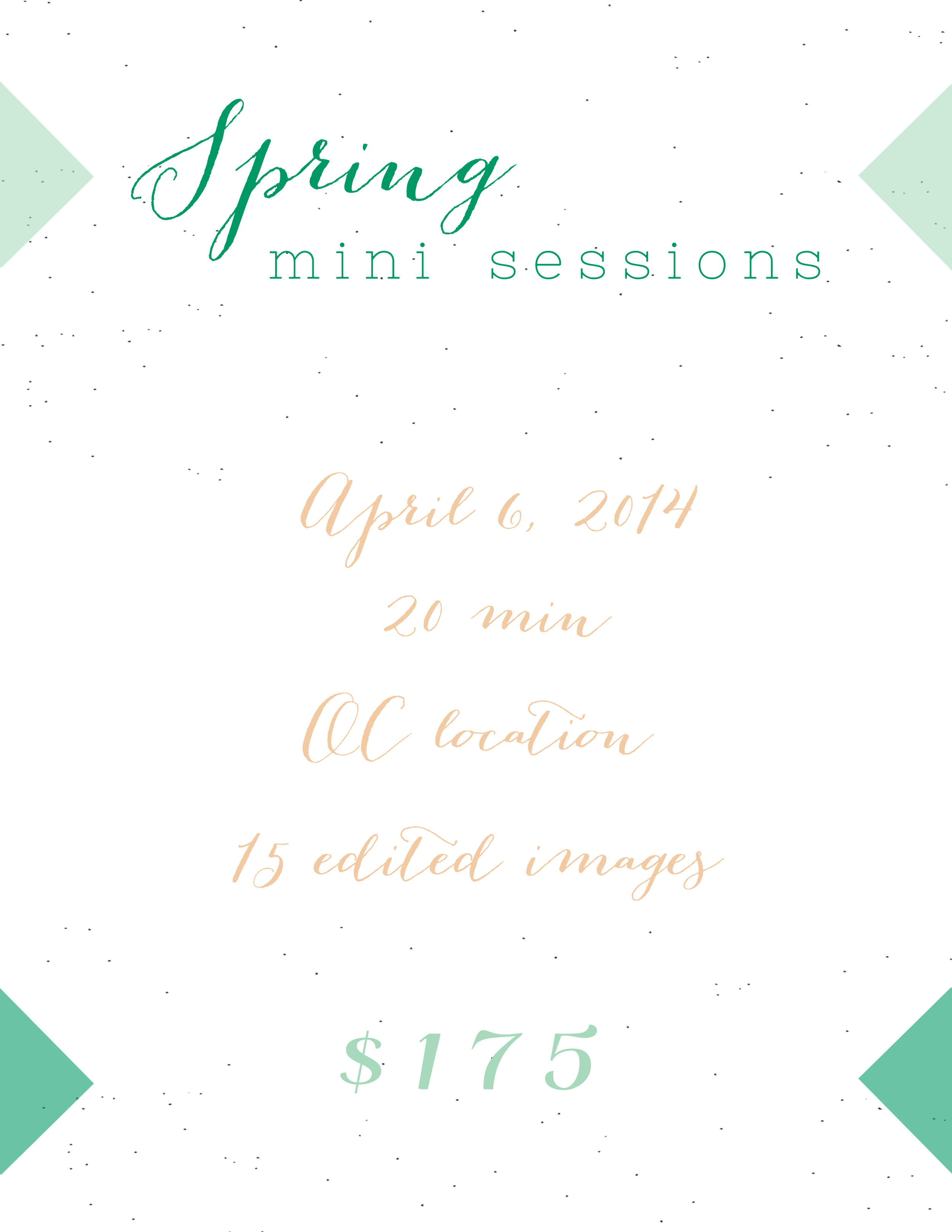 Jack and Lola Photography Spring Mini sessions 2014
