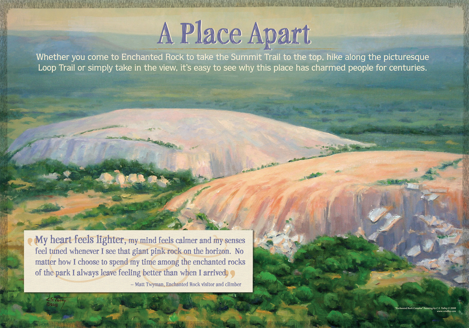 Welcome Panel; Enchanted Rock State Park.
