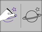 Left/Right Hand Tracing - Planets