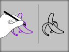 Left/Right Hand Tracing - Fruit
