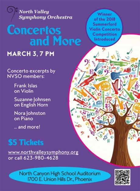 Concertos and More  March 3, 2018