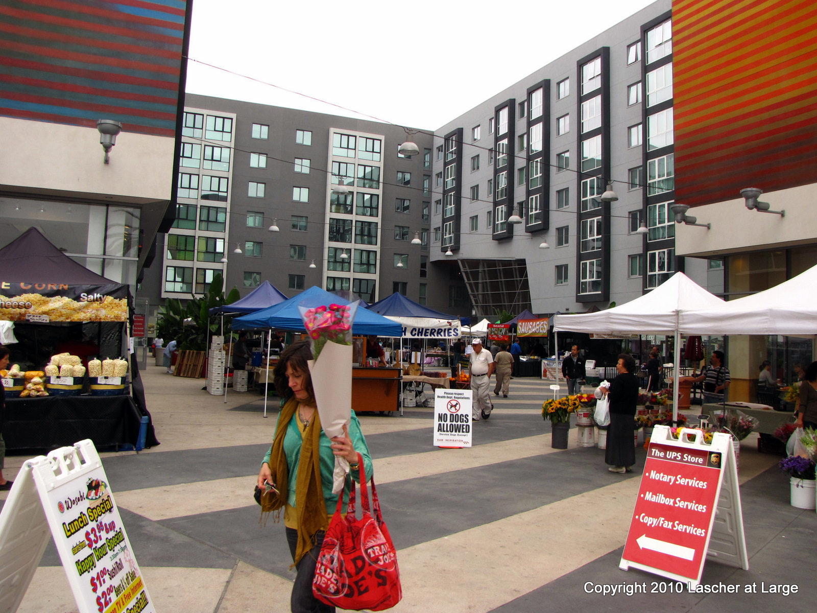 Farmers Market at Wilshire/Vermont Red Line Station. ( Photo by Bill Lascher )