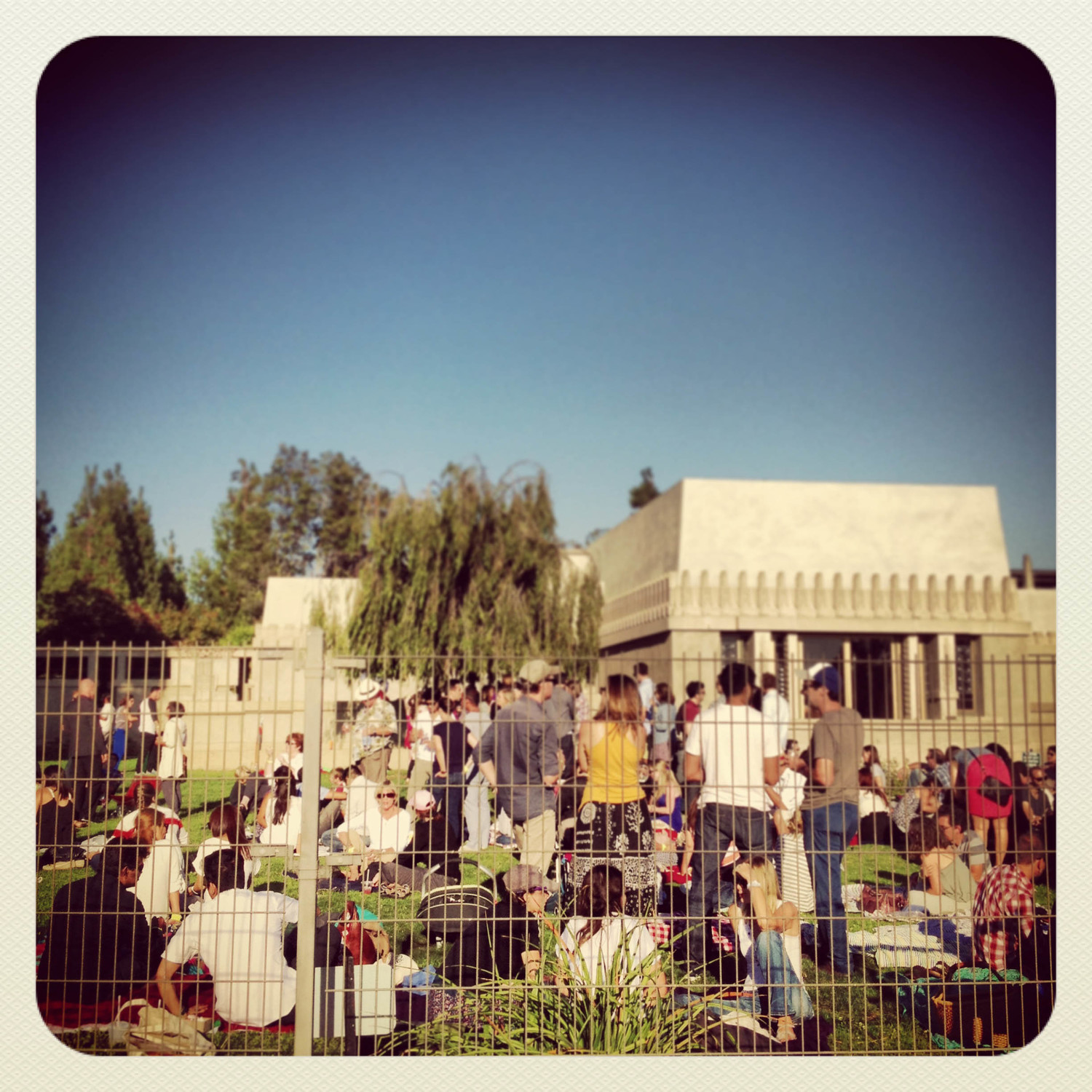 A wine tasting at the Barnsdall Art Park in August, 2013. ( Photo by Bill Lascher )