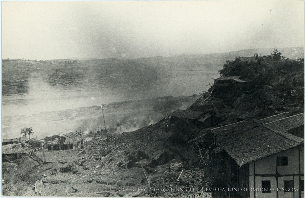 Chungking rubble and smoke as seen from above.jpg