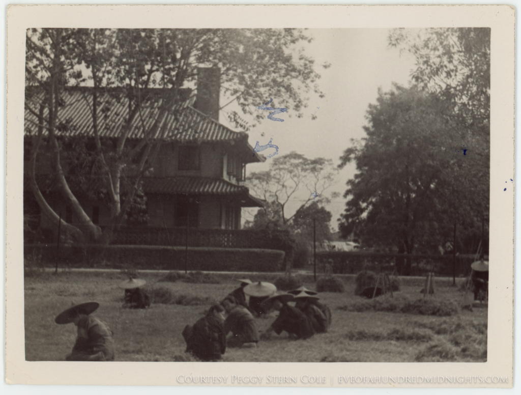 Grounds workers in field at Lingnan.jpg
