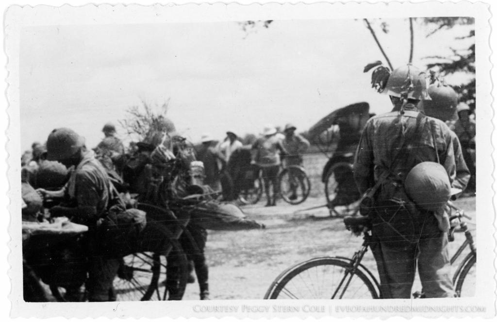 Bike soldiers in Camoflauge Deckle Edge 1.jpg