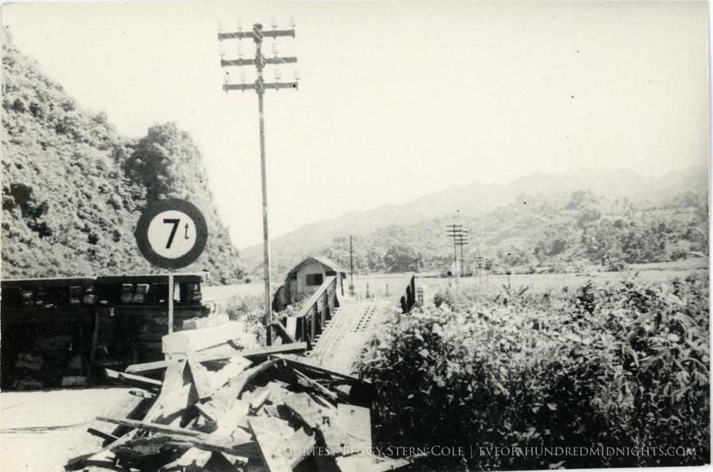 Damaged bridge in Indochina [description in letter from UPI].jpg