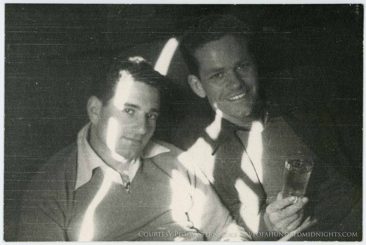 Mel and longtime friend Franklin Mynderse
