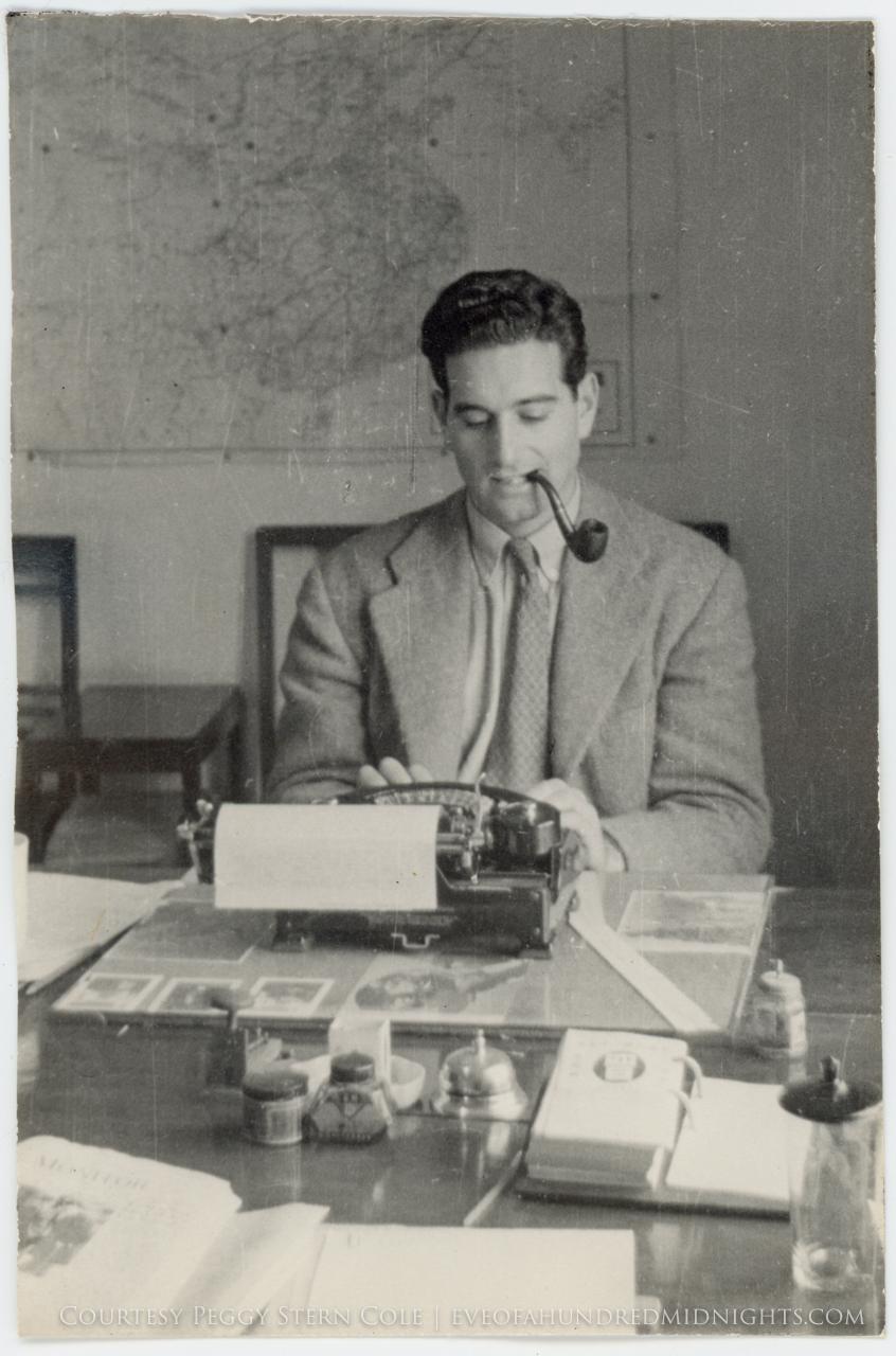 Mel at his typewriter
